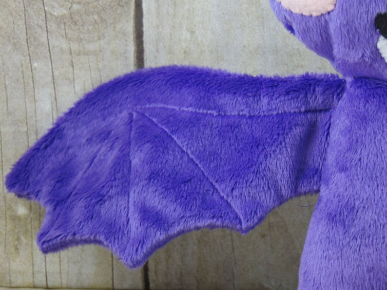 Bat Stuffed Animal Purple Minky Bat Plush