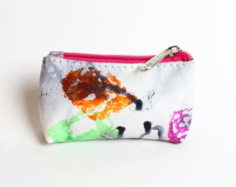 Coin Pouch - Colorful Leather Print