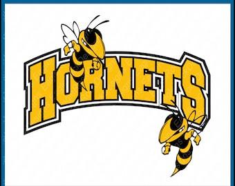 Hornet Mascot Svg Etsy