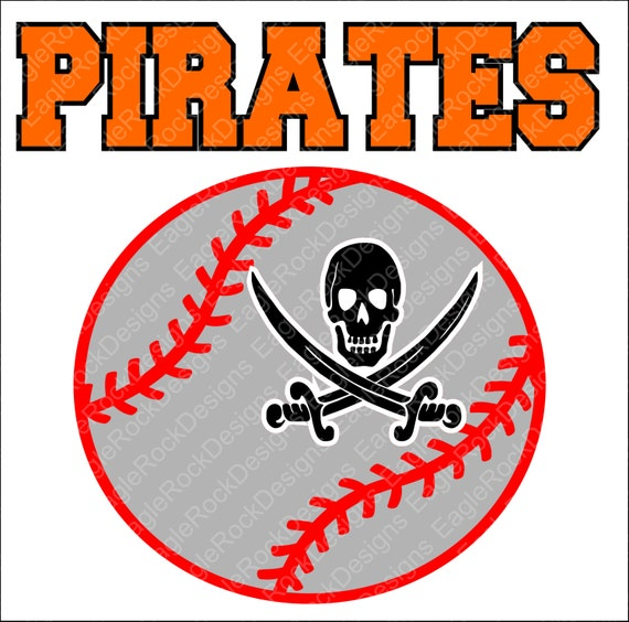 Pirates Baseball Softball Svg Dxf Eps Png Cut File For Etsy
