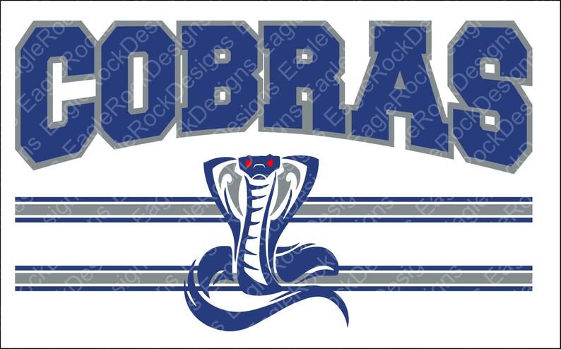 Cobras Svg Dxf Eps Cut File Cobras Svg Cobras Cut File Etsy