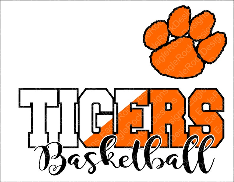 Tigers Basketball Svg Dxf Eps Png Cut File Tigers Etsy