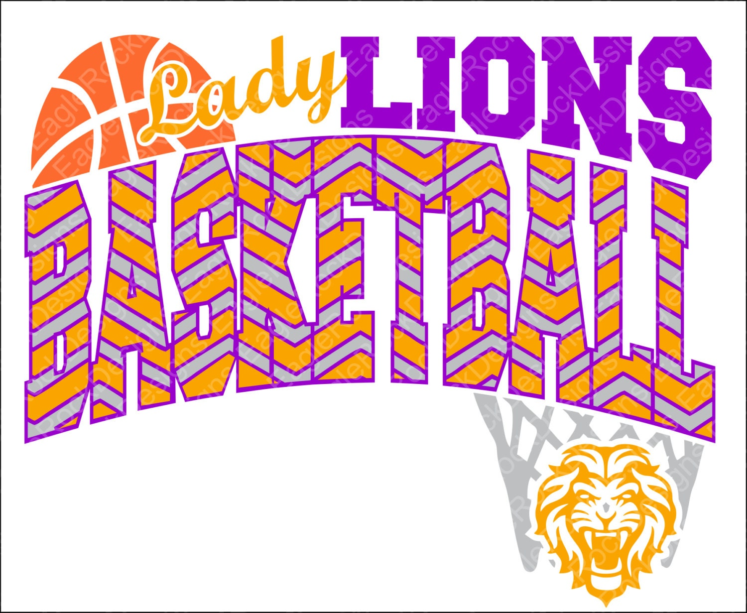 Lions Girls Basketball Svg Dxf Eps Cut File For Cameo And Etsy