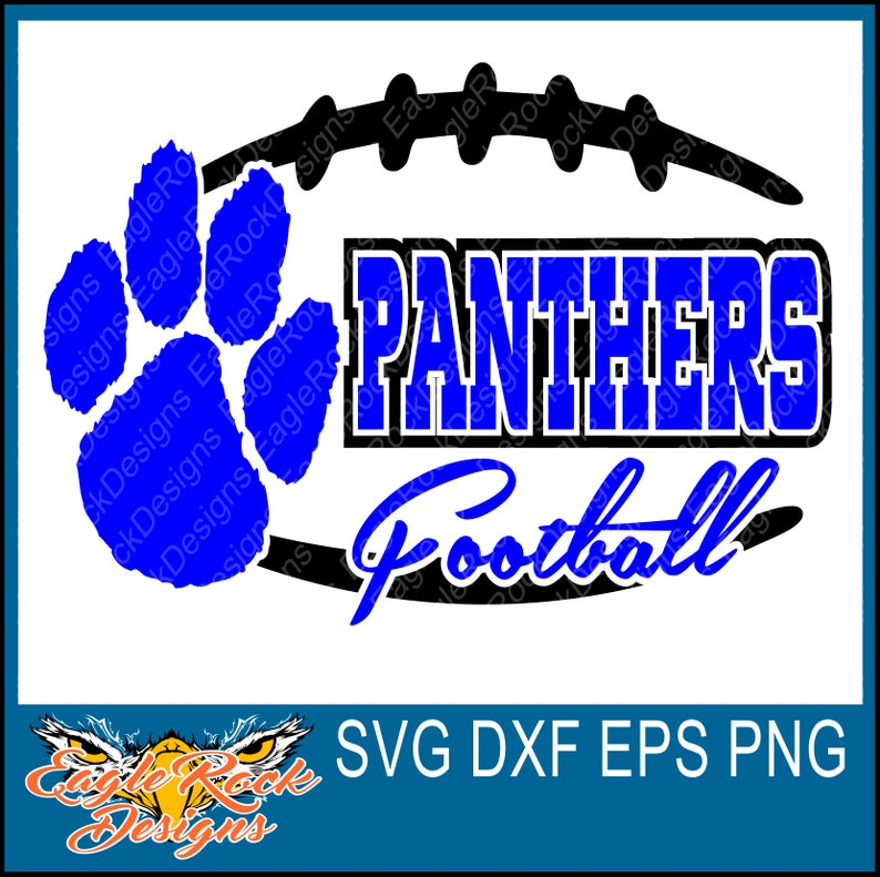 Edgy Panthers Football Svg Dxf Eps Png Cut File Etsy