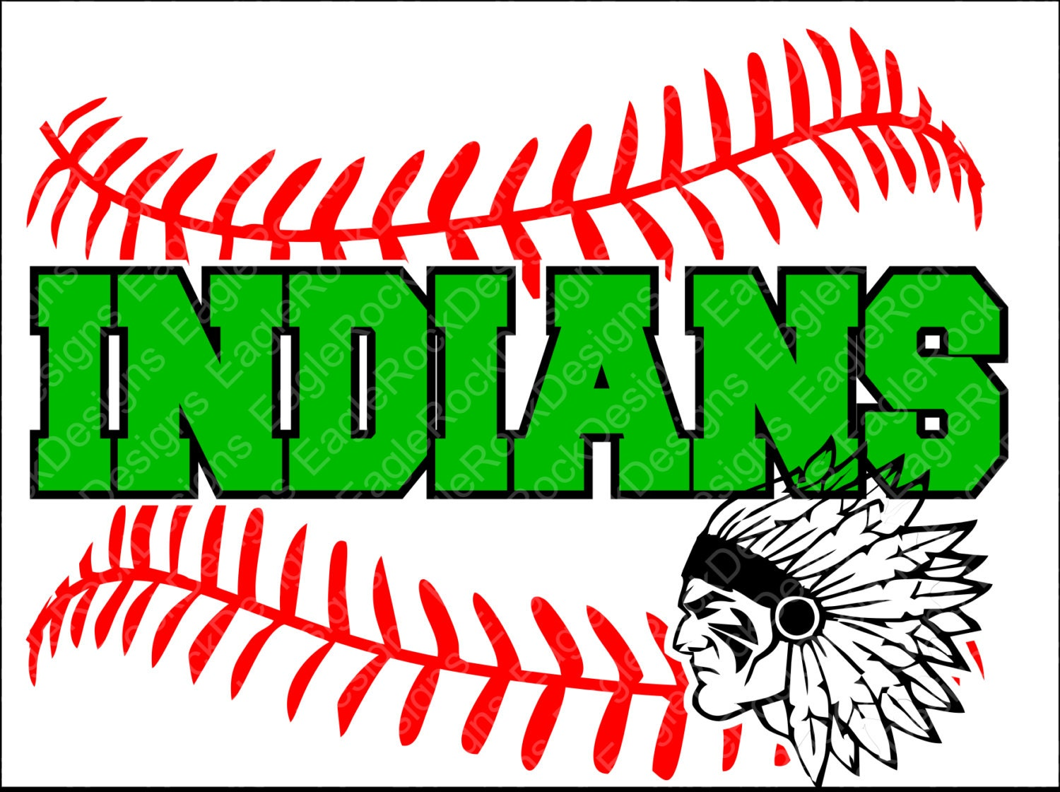 Indians Baseball Softball Svg Dxf Eps Png Cut File For Etsy