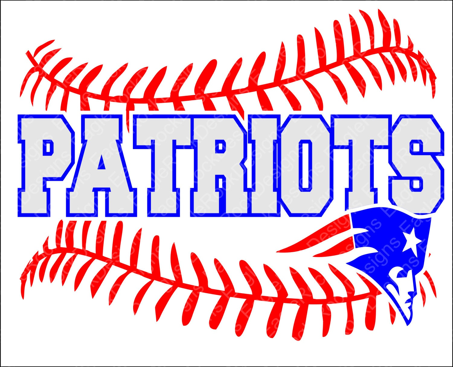 Patriots Baseball Softball Svg Dxf Eps Png Cut File For Etsy