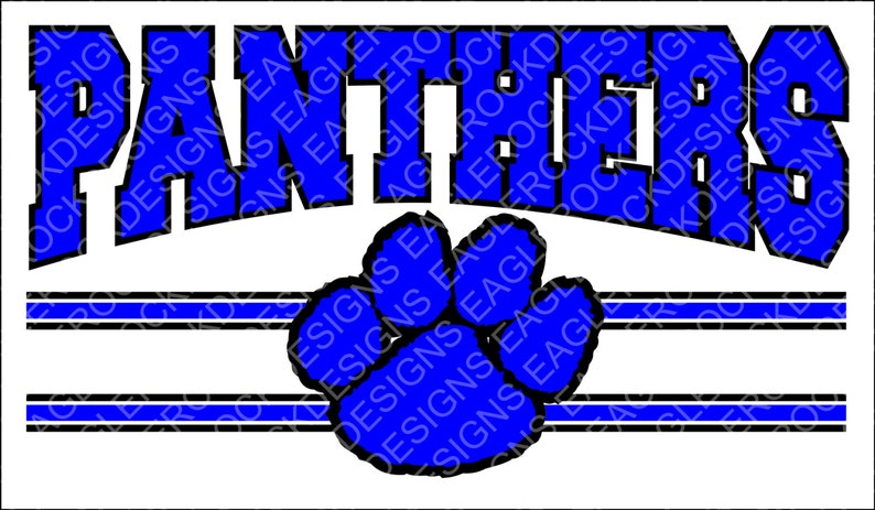 Panthers Paw Svg Dxf Eps Cut File Football Basketball Etsy