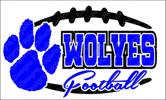 Edgy Wolves Football Svg Dxf Eps Png Cut File Etsy