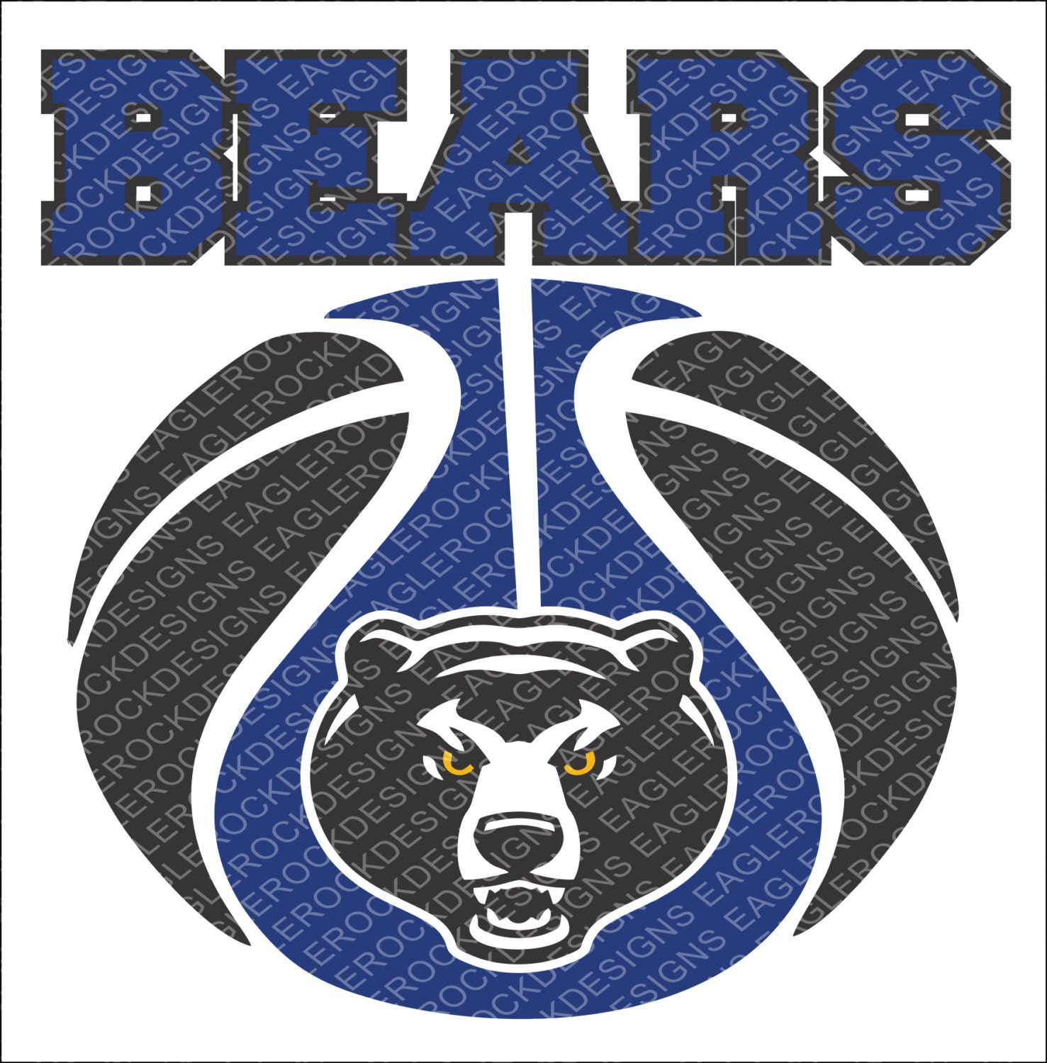 Bears Basketball Svg Dxf Eps Cut File For Cameo And Cricut Etsy