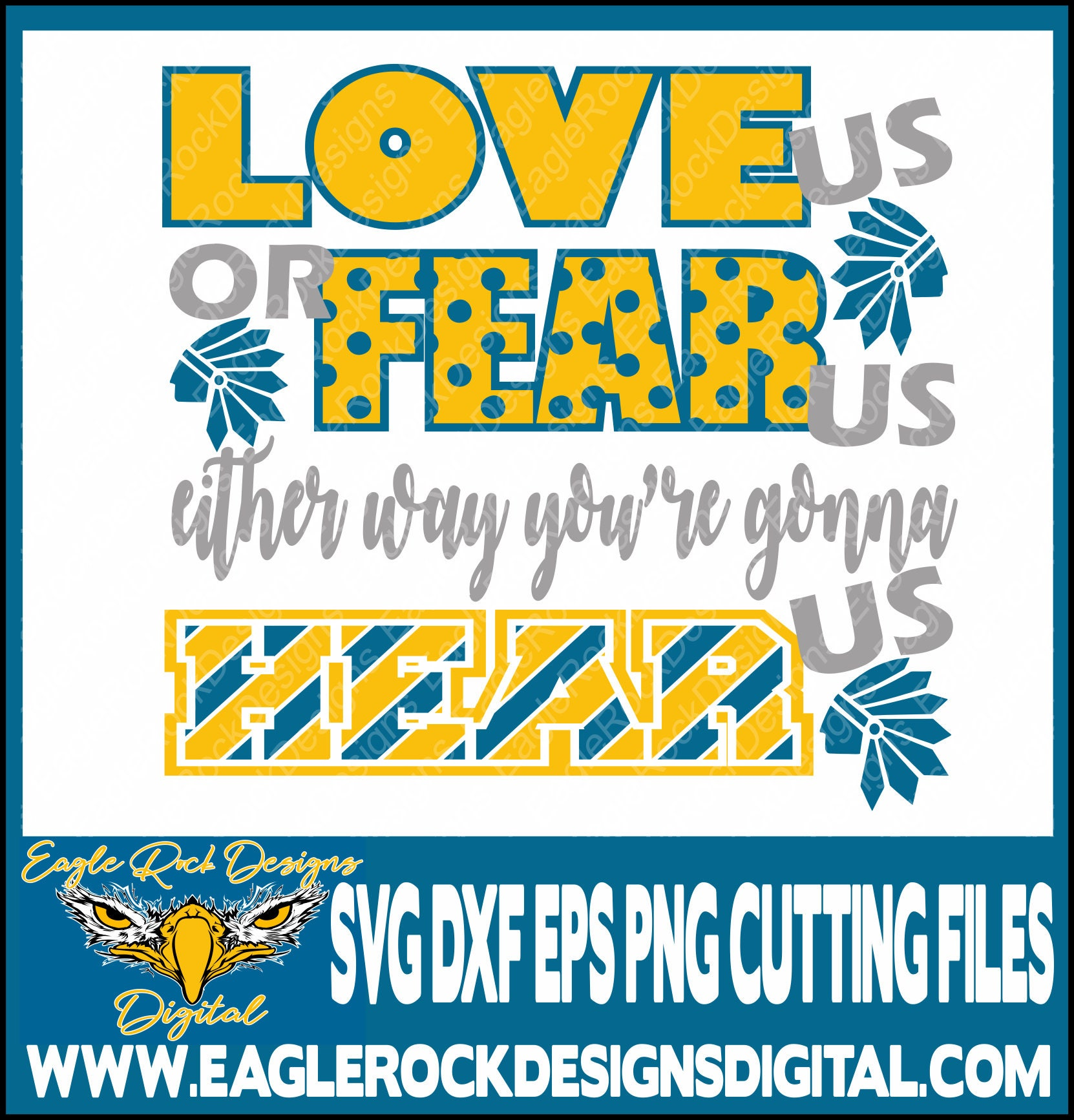 Chiefs Love Us Fear Us Svg Dxf Eps Png Cut File Cheer Etsy