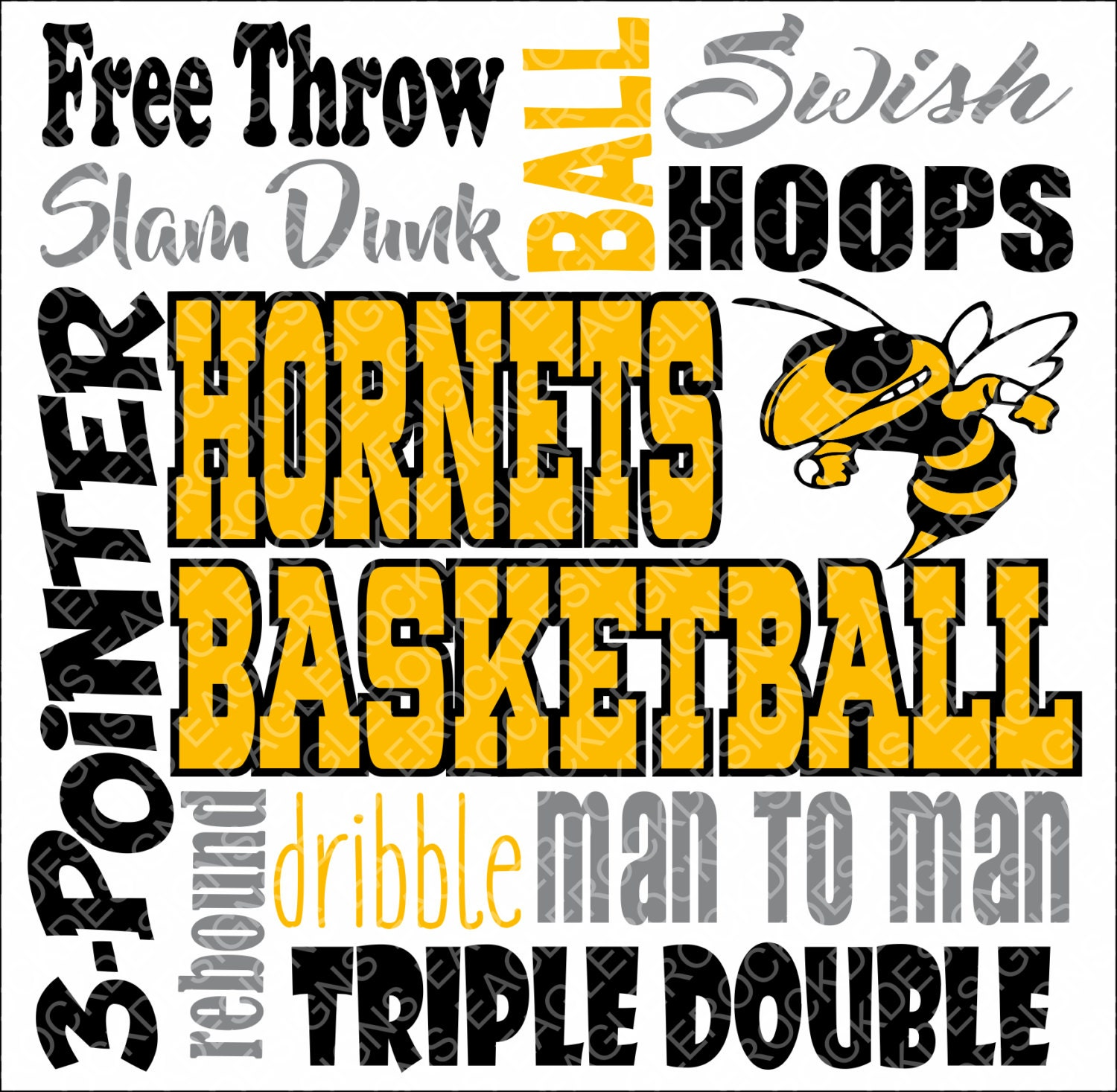 Hornets Basketball Subway Art Svg Dxf Eps Cut File For Cameo Etsy