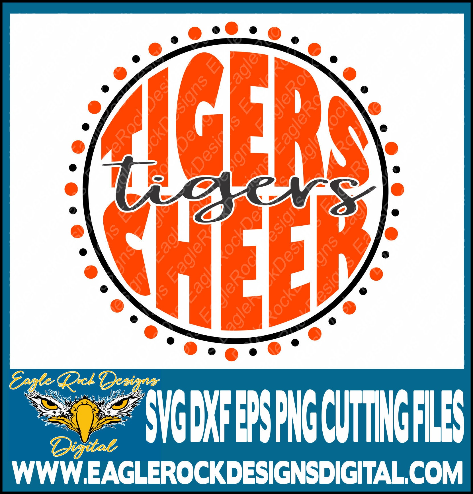 Tigers Cheer Svg Dxf Eps Png Cut File Tigers Cheer Mom Etsy