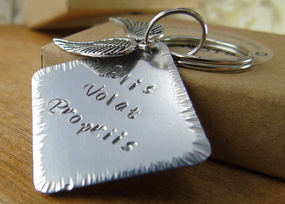 Key Ring Alis Volat Propriis She Flies By Her Own Wings For Etsy