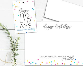 Personalized Holiday Cards, Personalized Holiday Gift Tags, Personalized Stationary, Christmas Tags, Christmas Gift Ideas for Family