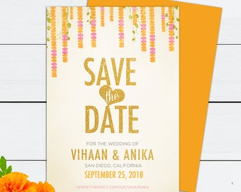 Indian Save The Date Etsy