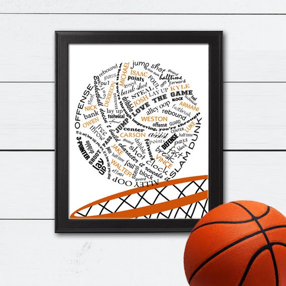 c2ef771cba6 Basketball Gifts, Personalized Basketball Gifts, Basketball Team Gift, Team  Gifts, Basketball Coach, Senior Gift, End of the Season, Art