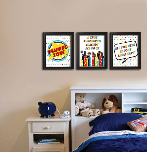 Superhero Wall Art, Superhero Decor, Superhero Prints, Super ...