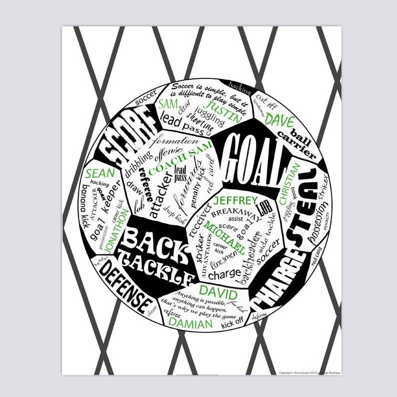 9f20d41a5 Soccer Team Gift Soccer Gift Soccer Coach Gift Team Gift   Etsy