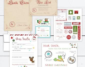 Letter to Santa Kit, Santa Kit, Believe in Santa, Christmas Kit, Northpole Postage, Christmas Stickers, Elf Report, Nice List, Personalized