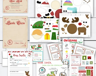 Christmas Activities Printables, Christmas Bundle, Letter to Santa, Stickers, Holiday Activities for Kids, Scavenger Hunt, Elf Report, Gift