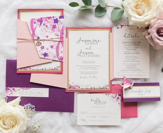 Japanese Wedding Japanese Wedding Invitation Japanese