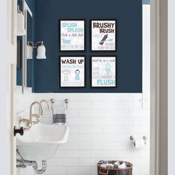 Bathroom Wall Decor Kids Bathroom Kids Wall Art Bathroom Kids Sign
