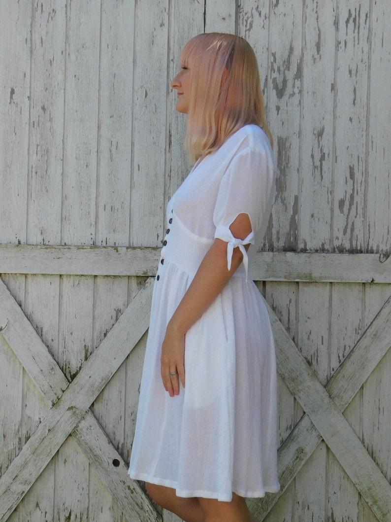 button down dress white sundress dress with pockets summer dresses for women