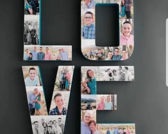 LOVE letters with your family pictures