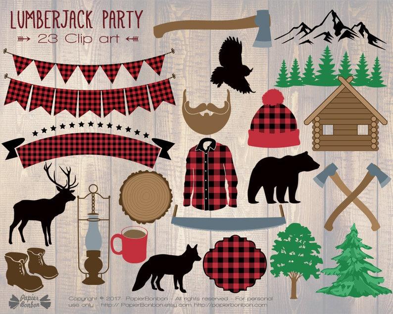 Lumberjack clip art 23 woodland clip art lumberjack birthday image 0