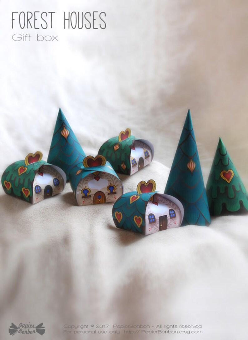 Christmas Favor boxes Printable Party favors & centerpiece image 0