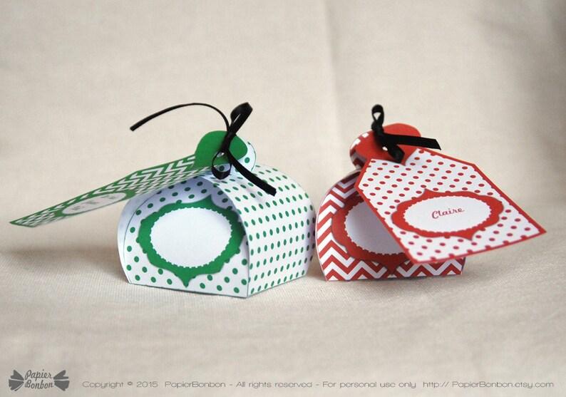 Favor boxes and Editable tags printable printable gift boxes image 0