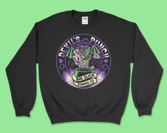 "Big Slick Pomade Co. ""Devil's Punch"" Crewneck Sweatshirt"