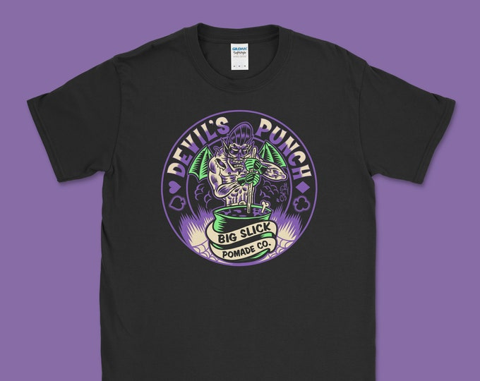 "Big Slick Pomade Co. ""Devil's Punch"" T (Purple/Green)"