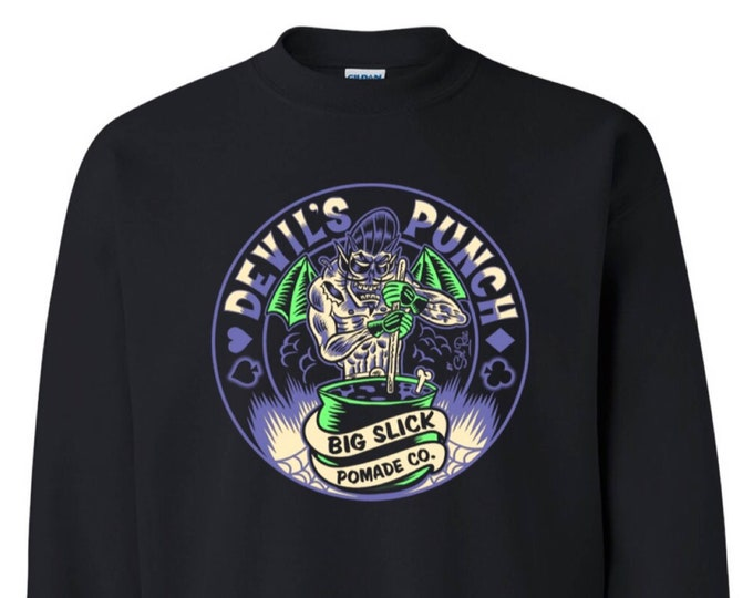 Big Slick Pomade Co. Devil's Punch Crewneck Sweatshirt