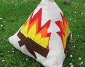 Campfire Cushion, fire pyramid, indoor campfire