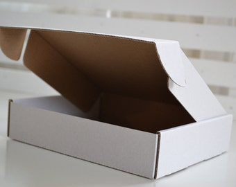 Pack of 10 CUSTOM SIZE corrugated cardboard boxes. gift, packing or shipping boxes. Contact us and we will make cardboard box with your size