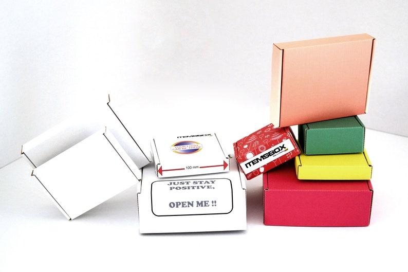 Pack of 10 CUSTOM SIZE corrugated cardboard boxes. Plain or image 0