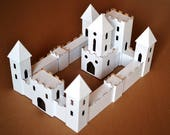 Putz glitter style Castle Diy. Unassembled corrugated cardboard houses style castle. Make your own castle
