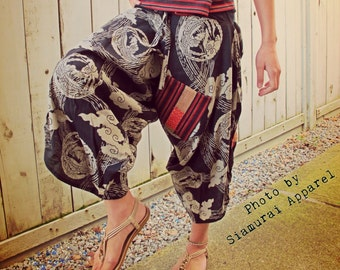 Phoenix Fushichou Black Waist-Tied Samurai Pants - Phoenix by the Cloud
