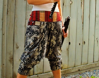 Ronin Samurai Waves (BLACK) Ninja Pants