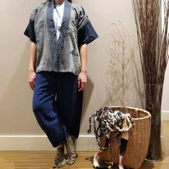 Antique Japanese Indigo Boro Patchwork Sashiko Nor