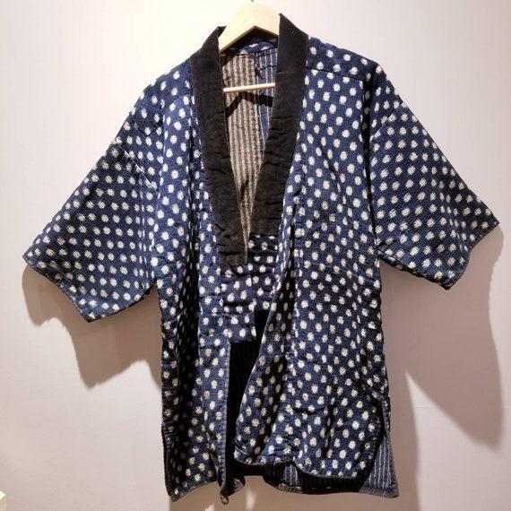 Antique Japanese Indigo Blue Sashiko Noragi Jacket