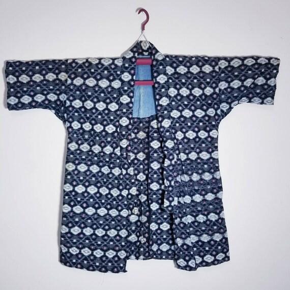Antique Japanese Boro Aizome indigo Kasuri Ikat No