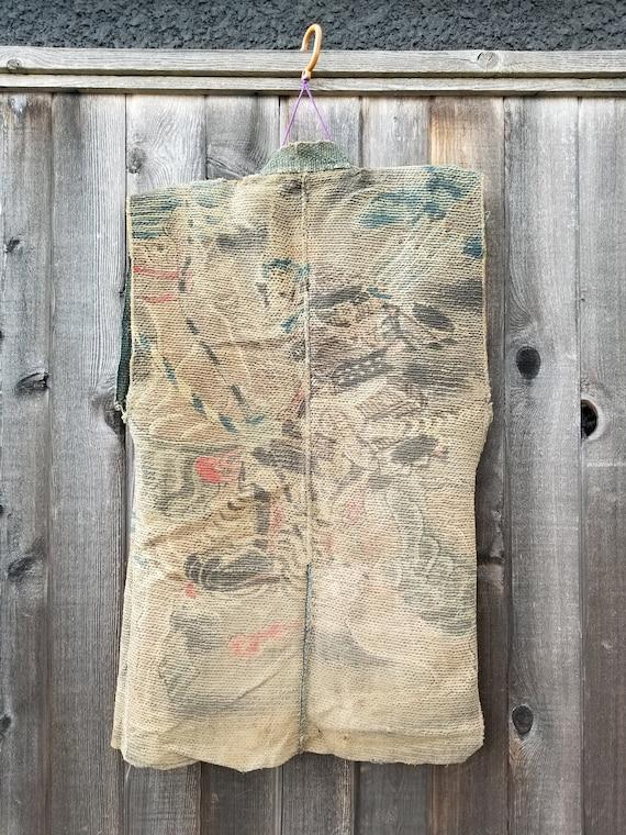 1800s Edo Japanese Fireman's Jacket Double Stitch