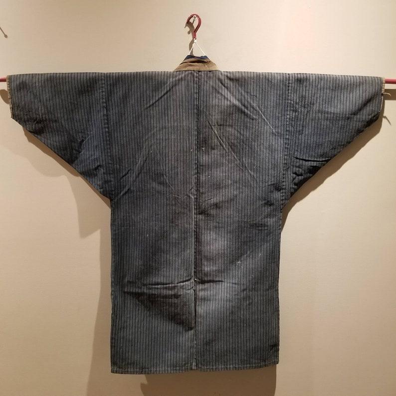 Vintage Boro Indigo Noragi Jacket from mid century Japan