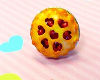 Cherry Pie Ring, Miniature Food Jewelry, Inedible Jewelry, Food Ring, Fake Food Jewelry, Cherry Pie Jewelry, Kid's Jewelry, Kawaii Jewelry
