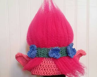Princess Poppy crochet hat, photo prop, costum