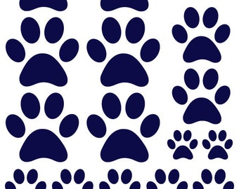 Paw Print Wall Decal Etsy