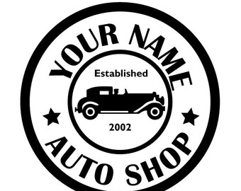 auto shop etsy Black Mustang Car custom auto shop wall decal sticker made of vinyl and great for your garage man cave study den and workshop many colors available