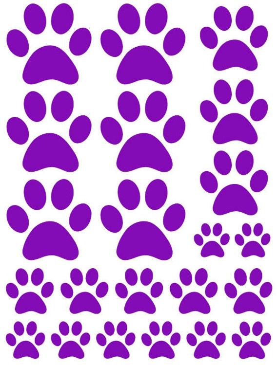 40 Paw Print StickersDog Pet Animal Wall Decals Car Van Kids MacbookS3